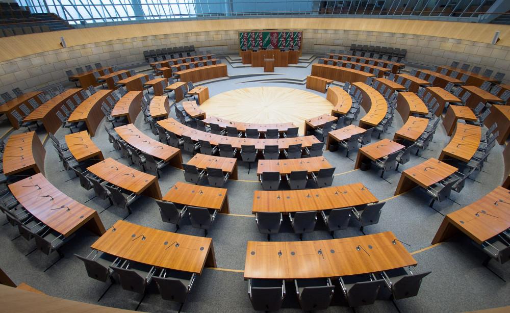 Plenarsaal des NRW-Landtags