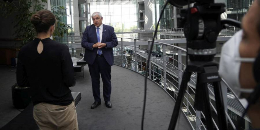 Bundestagswahl 2021: Hermann Färber (CDU) im DJV-Interview. (Quelle: Roeser/DJV)