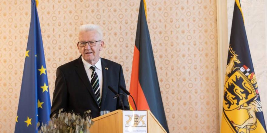 Ministerpräsident Winfried Kretschmann während einer Rede (Foto: Staatsministerium Baden-Württemberg)