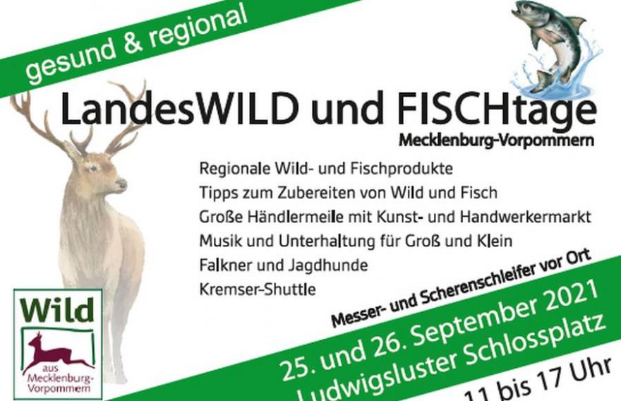Plakat der Landes WILD und FISCHtage (Quelle: LJV M-V)