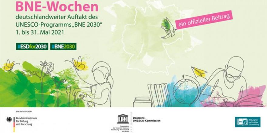 Plakat der BNE-Wochen (Quelle: Bundesministerium für Bildung und Forschung)