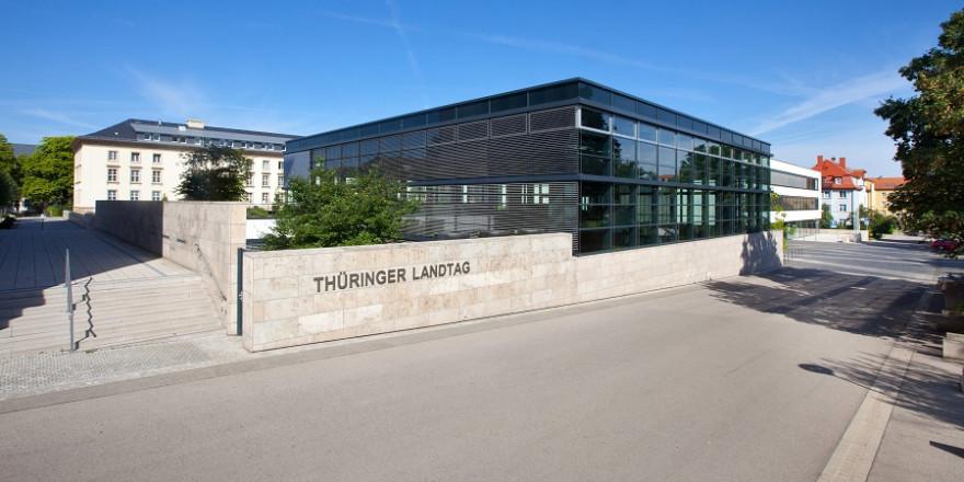 Der Thüringer Landtag in Erfurt.
