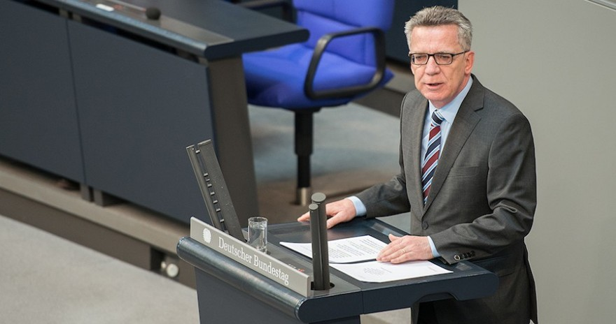 www.thomasdemaiziere.de, Thomas de Maizière im Bundestag