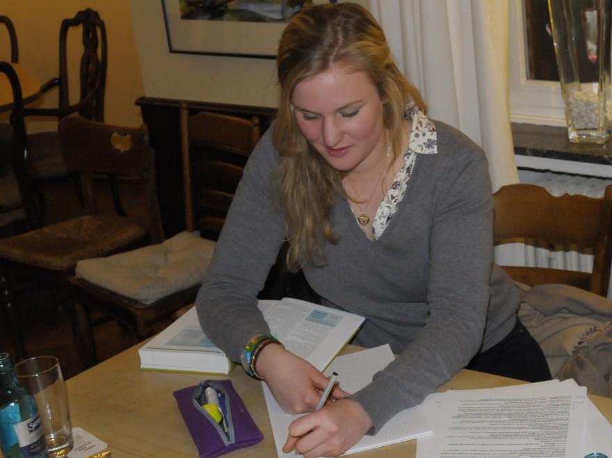 Sophie von Korff lernt