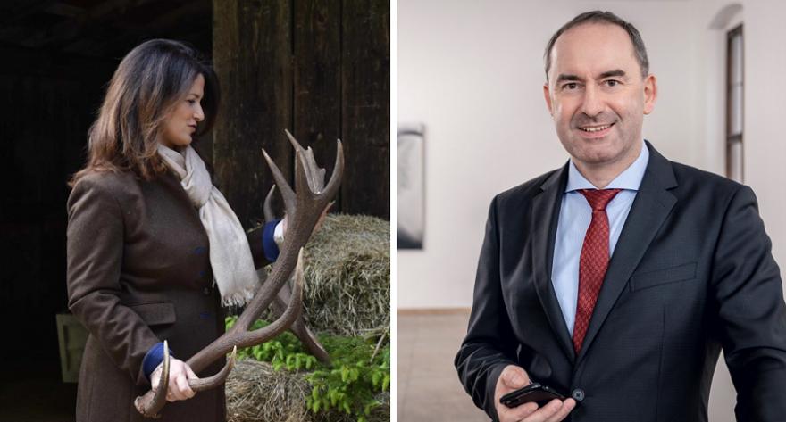 Michaela Kaniber (CSU) und Hubert Aiwanger (FW)