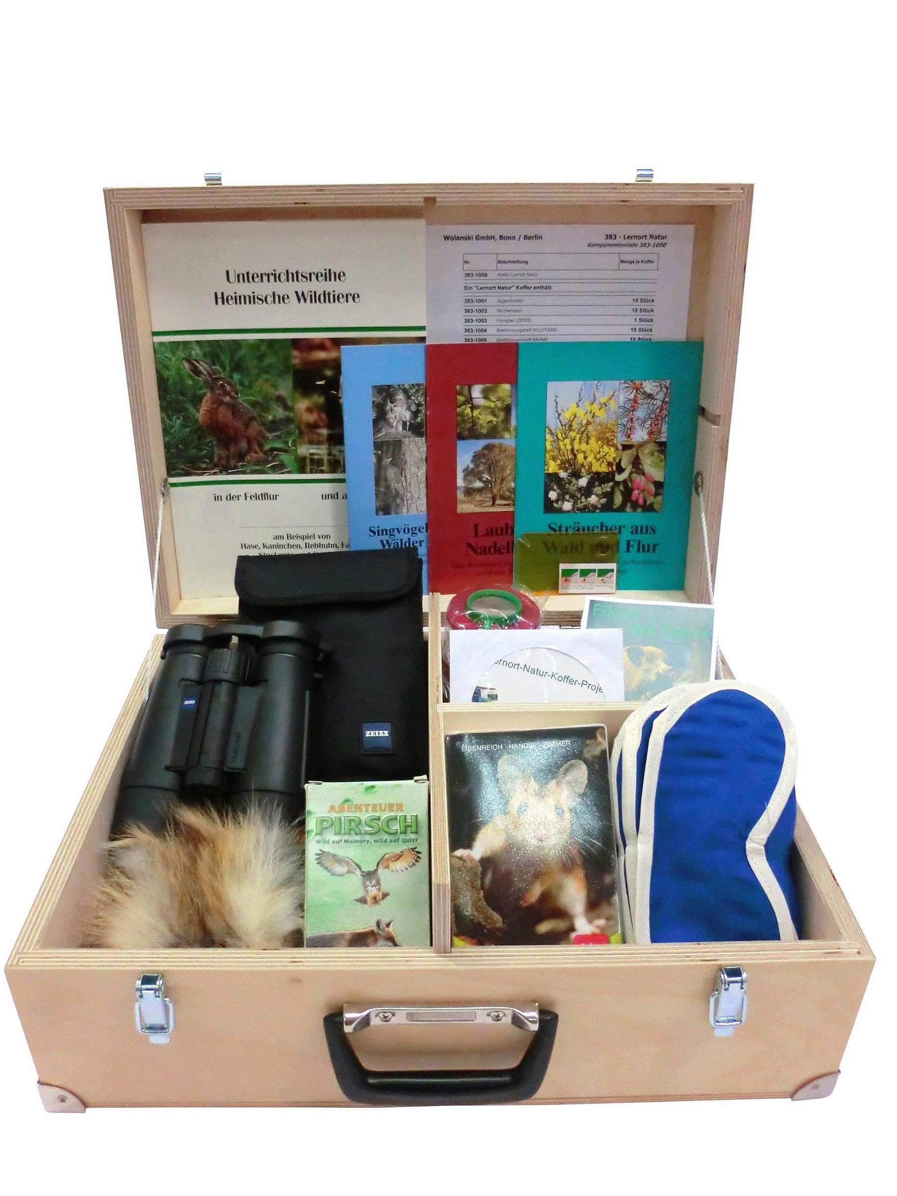 Der Lernort-Natur-Koffer der Jägerstiftung natur+mensch