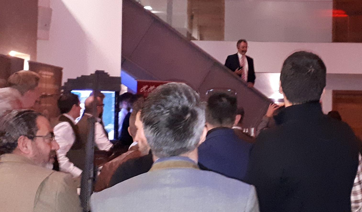Michael Lüke bei der Begrüßungsansprache im Rahmen der Sneak Preview in Dortmund (Foto: mlz)