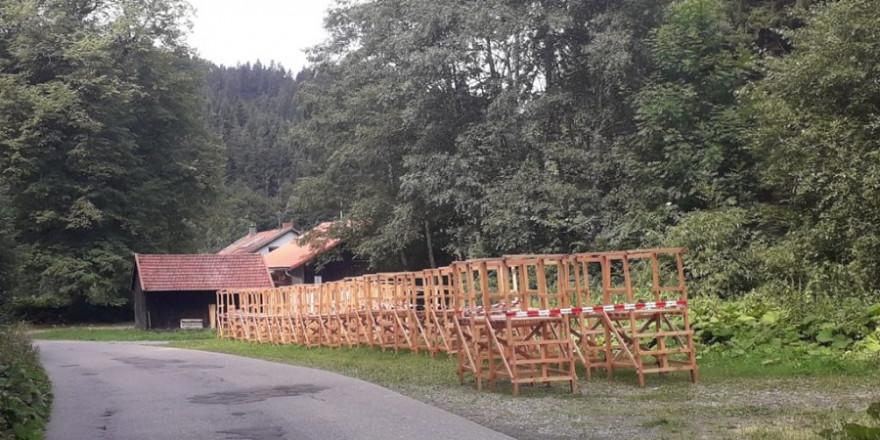 Mobilmachung gegen die Gams in Kürnach – Foto: BJV