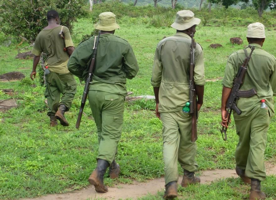 Wildhüter in Afrika