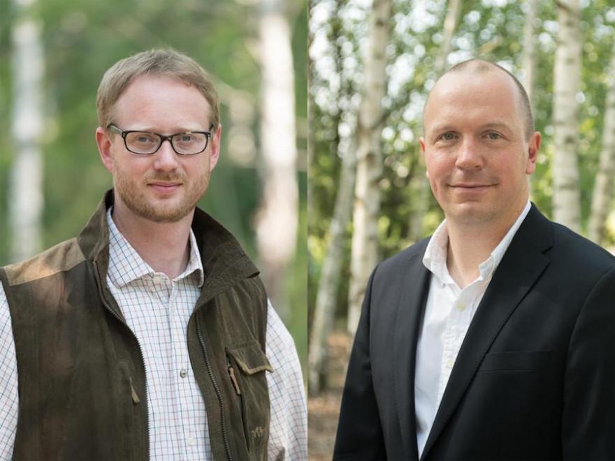 Auf dem Bundesjägertag hat Andreas Leppmann (l.) das Amt des DJV-Geschäftsführers an Olaf Niestroj (r.) übergeben. (Quelle: Recklinghausen/DJV)