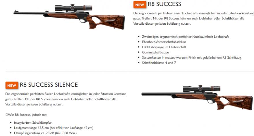 Screenshot: www.blaser.de
