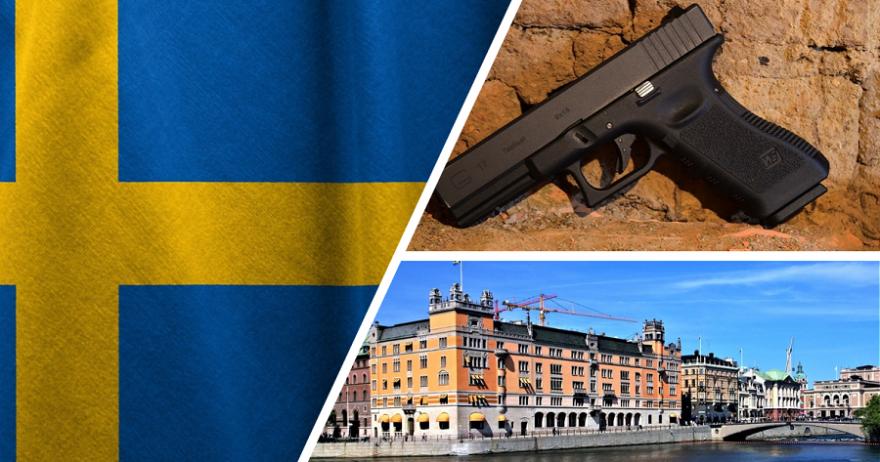 Aus dem Gebäudekomplex Rosenbad in Stockholm, in dem sich auch die schwedische Staatskanzlei befindet, wurden die Waffen entwendet. Hier beispielhaft abgebildet eine Glock 17, die die schwedischen Streitkräfte unter der Bezeichnung P88 nutzen.