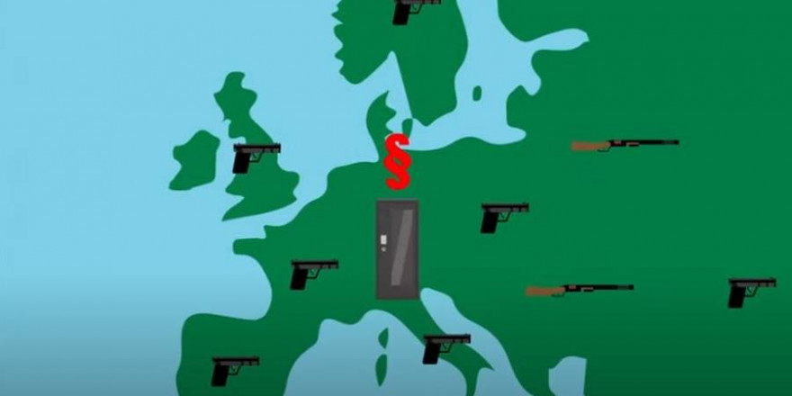 Deutschland hat eines der schärfsten Waffenrechte der Welt (Quelle: Screenshot YouTube)