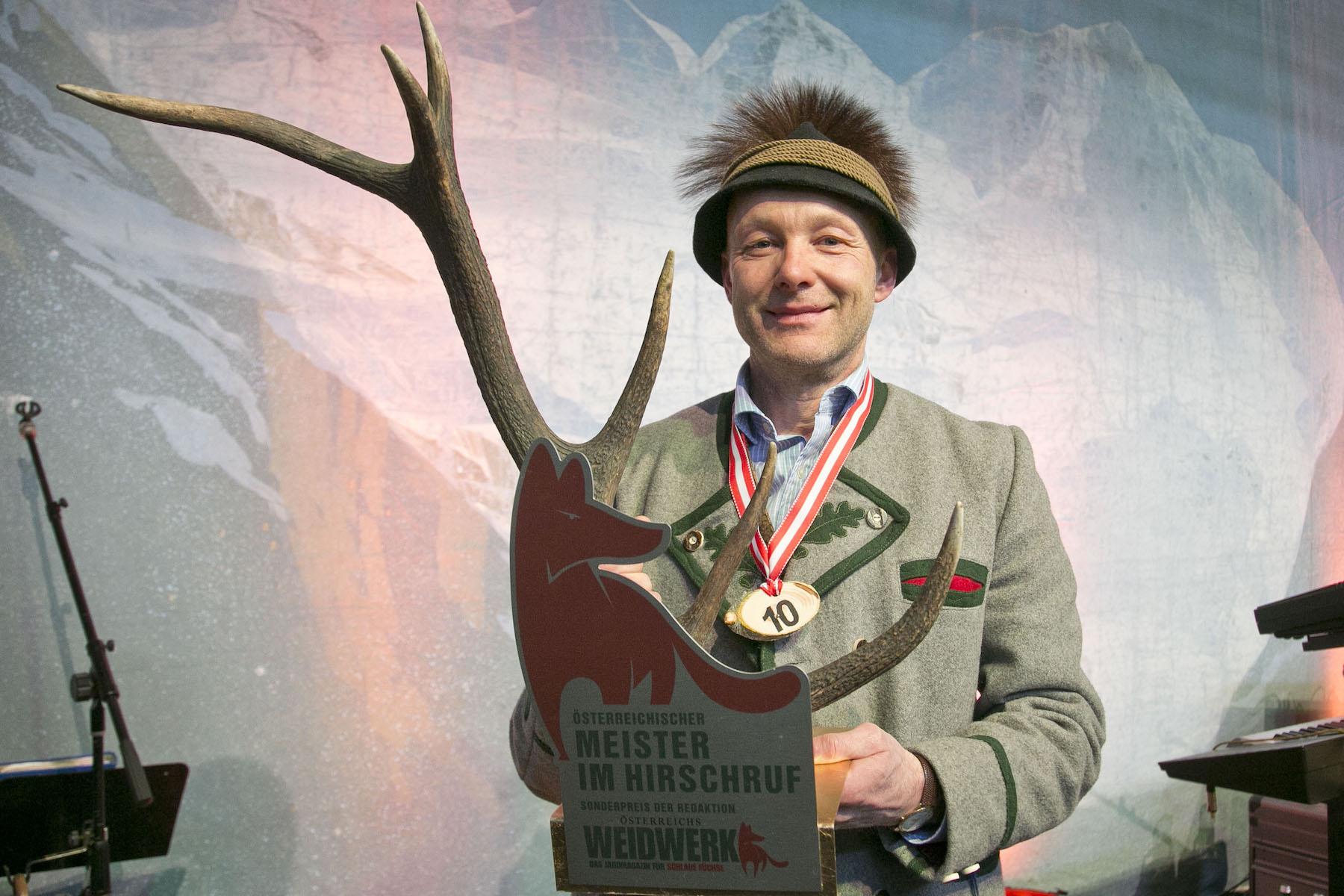 Fotoquelle: Messe Salzburg/ Sieger im Hirschruf-Wettbewerb wurde Christian Hochleitner