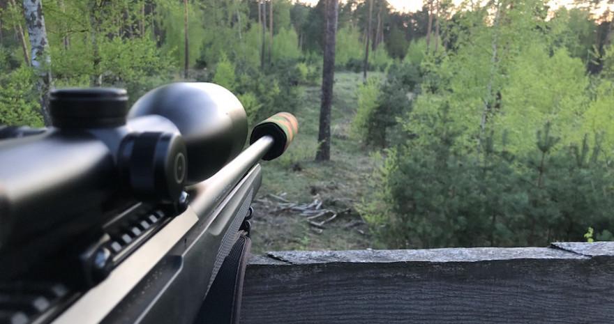 Jagdwaffe mit Schalldämpfer