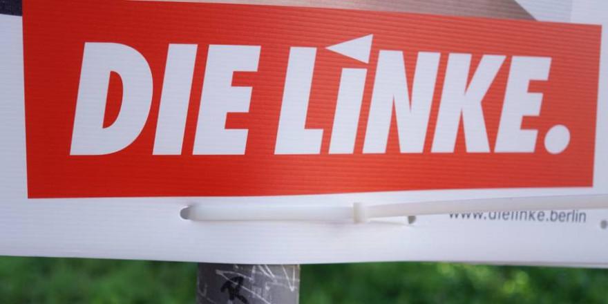 """Schild der Partei """"Die Linke"""" (Symbolbild: iStock/Cineberg)"""