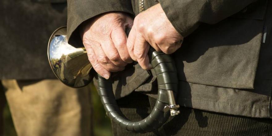Mann mit einem Jagdhorn in der Hand (Beispielbild: iStock/ LeoniekvanderVliet)