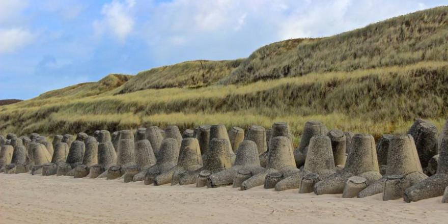 Maßnahmen zum Küstenschutz an einem Strand auf der Insel Sylt (Symbolbild: Kerstin Herrmann)
