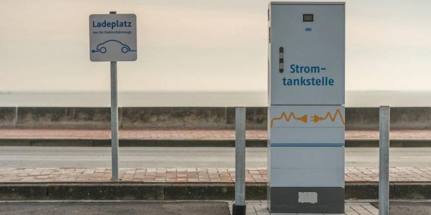 Ein Ladeplatz für Elektrofahrzeuge (Symbolbild: A. Krebs)