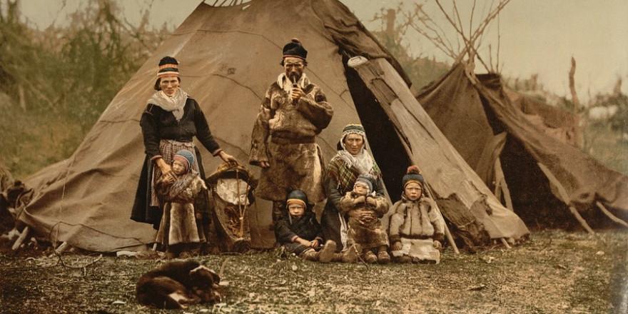 Samen-Familie ca. 1900.