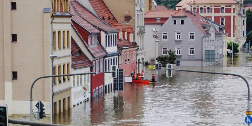 Elbehochwasser in Meißen (Beispielbild: LucyKaef)