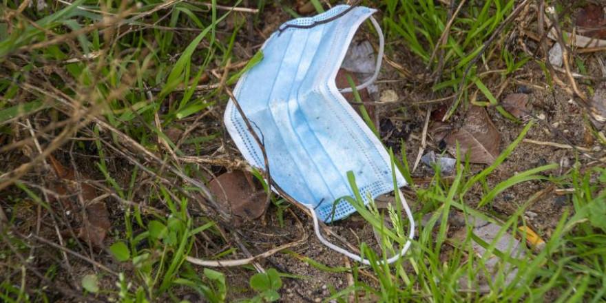 Achtlos weggeworfene Schutzkleidung, wie hier eine Schutzmaske, können für Wildtiere zur bösen Falle werden (Symbolbild: Jacqueline Wales)