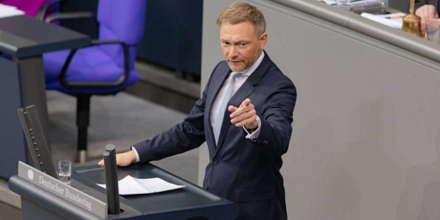 FDP-Chef Christian Lindner bei einer Rede vor dem Deutschen Bundestag (Symbolbild: Kevin Schneider)