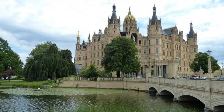 Schweriner Schloss – Sitz des Landtages von Mecklenburg-Vorpommern (Symbolbild: falco)