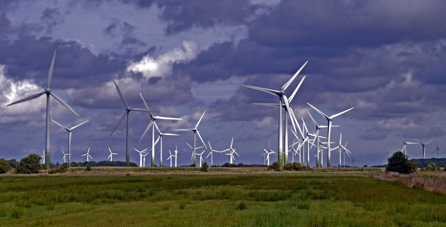Windpark auf dem Land
